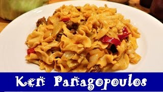Cabbage, Sausage & Egg Noodles (Gluten Free Haluski Recipe) | Ken Panagopoulos