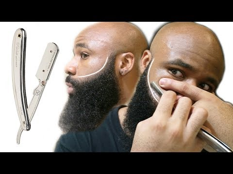 How To Use A Straight Edge Razor The Right Way | Beard Line Up | Parker SR1