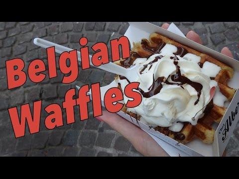 Belgian Waffles taste test in Bruges, Belgium