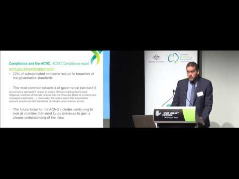 Australian charities involved overseas and the ACNC Part 3 – presented by Stewart Donaldson