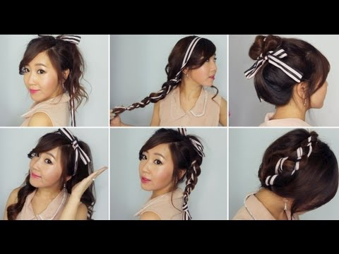 6 Easy Ribbon Hairstyles