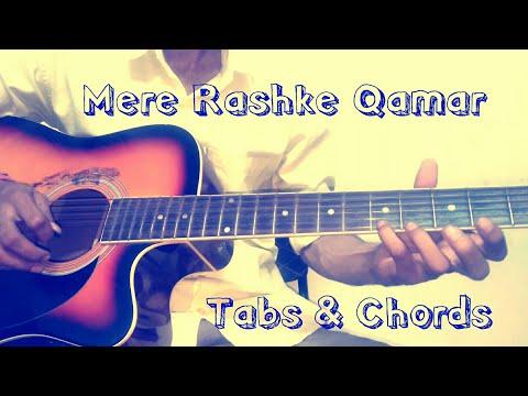 Mere Rashke Qamar CHORDS & TABS Guitar Lesson