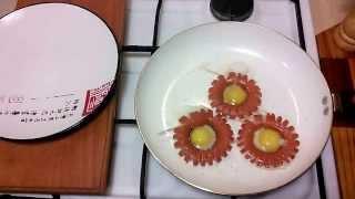 яичница из перепелиных яиц (Ромашки)