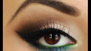 Как красить стрелки на глазах в восточном стиле