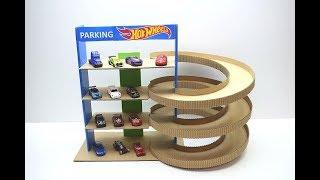 Как сделать парковку трек Hot Wheels из картона