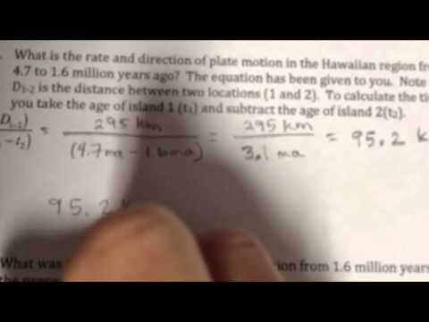 Calculating plate motion example