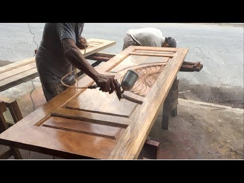 How To Polishing And Paint A Big Wooden Door Youtube