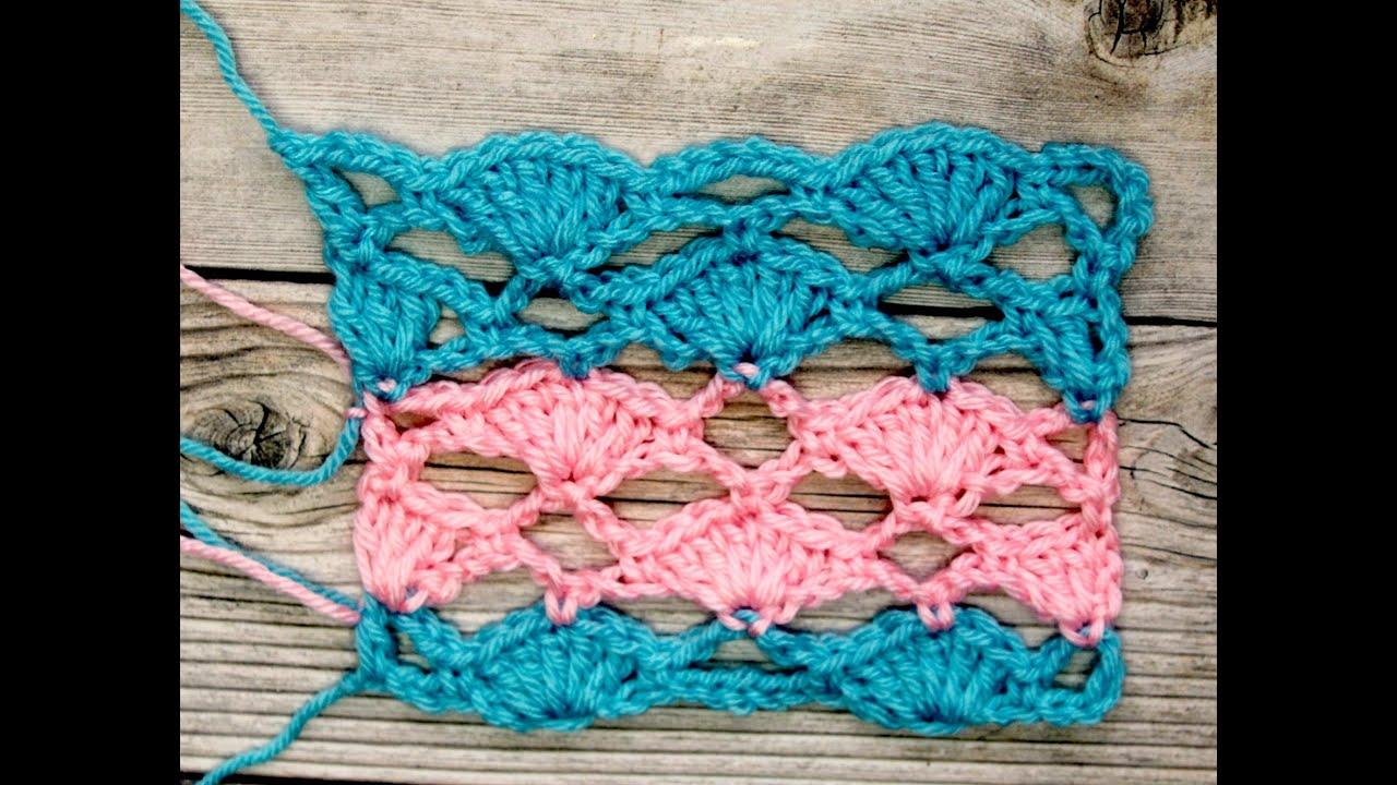 Un patron en crochet para covijas, bufandas y otras prendas - YouTube