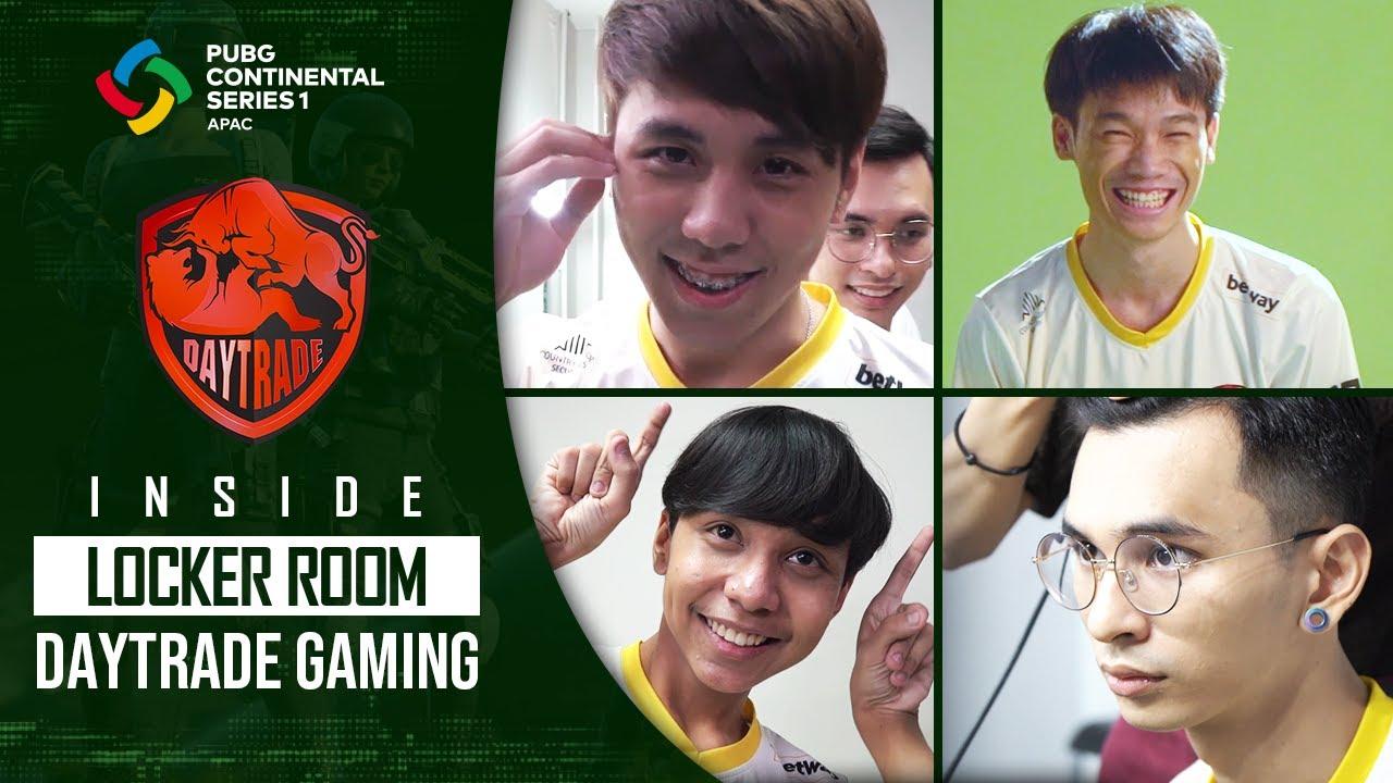 พับจี รวมสัมภาษณ์สุดปั่นทีม Daytrade Gaming | INSIDE LOCKER ROOM PUBG CONTINENTAL SERIES 1 APAC