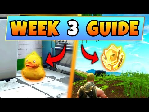 Fortnite WEEK 3 CHALLENGES GUIDE! – RUBBER DUCKIES Locations