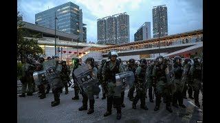 现场直播:香港9.1抗议活动  防暴警察在东涌地铁站清场