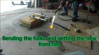 Tao Tao fork repair,New rim and reassembly