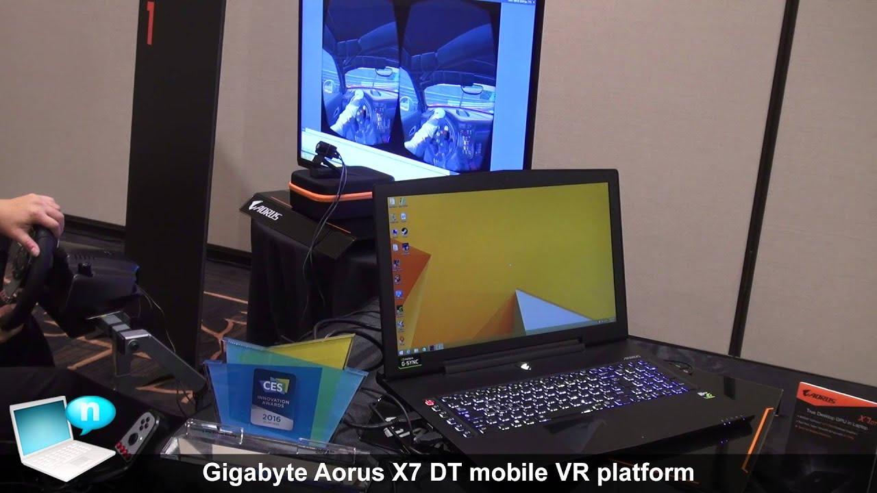 Gigabyte Aorus X7 DT mobile VR platform by Notebook Italia