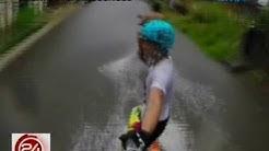 24Oras: Lalaki, nag-wakeboard sa gutter deep na baha