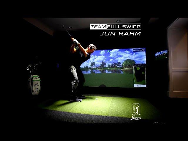 Jon Rahm Practicing at TPC Sawgrass 17th Hole on Full Swing Simulator