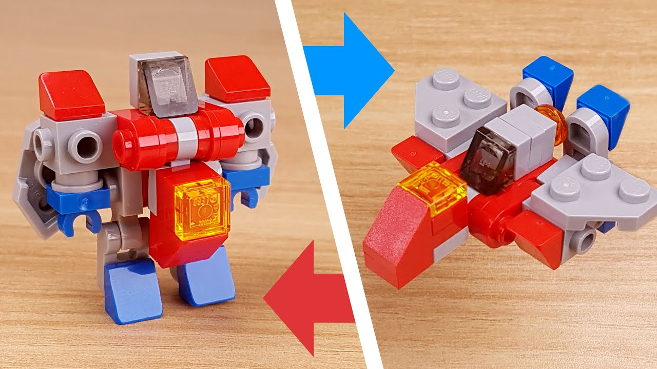 [LEGO Mini Robot Tutorial] Micro fighter jet transformer mecha - Belly Boy (similar to starscream)