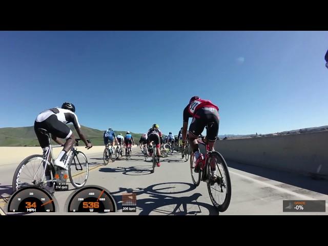 Santa Barbara Road Race 2017, Cat 3 - Final Sprint Crash