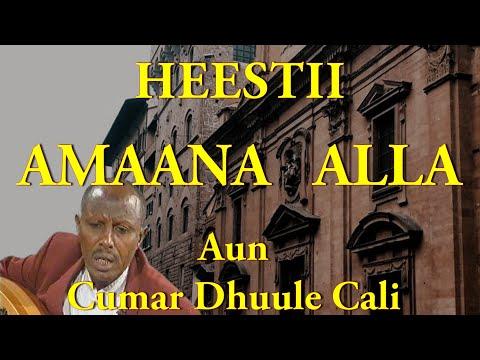 Heestii - Amaana Alla Inanyahay  |  AUN Cumar Dhuule Cali (LYRICS)
