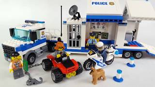 Lego City 60139 Mobile Command Center Mobilne centrum dowodzenia Speed Build Stop Motion
