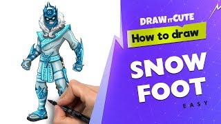 How to draw Snow Foot easy | Fortnite Season 7 drawing tutorial