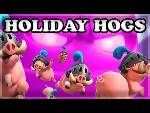 EASIEST DECK & NO SKILL - Elixir Golem (Holiday Hog Challenge) 🍊