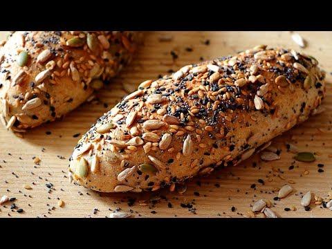 Cómo hacer pan casero con harina integral y semillas - Receta de pan multigrano