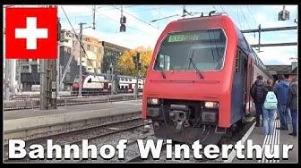 Train Station Winterthur / Züge beim Bahnhof Winterthur, Schweiz 2017