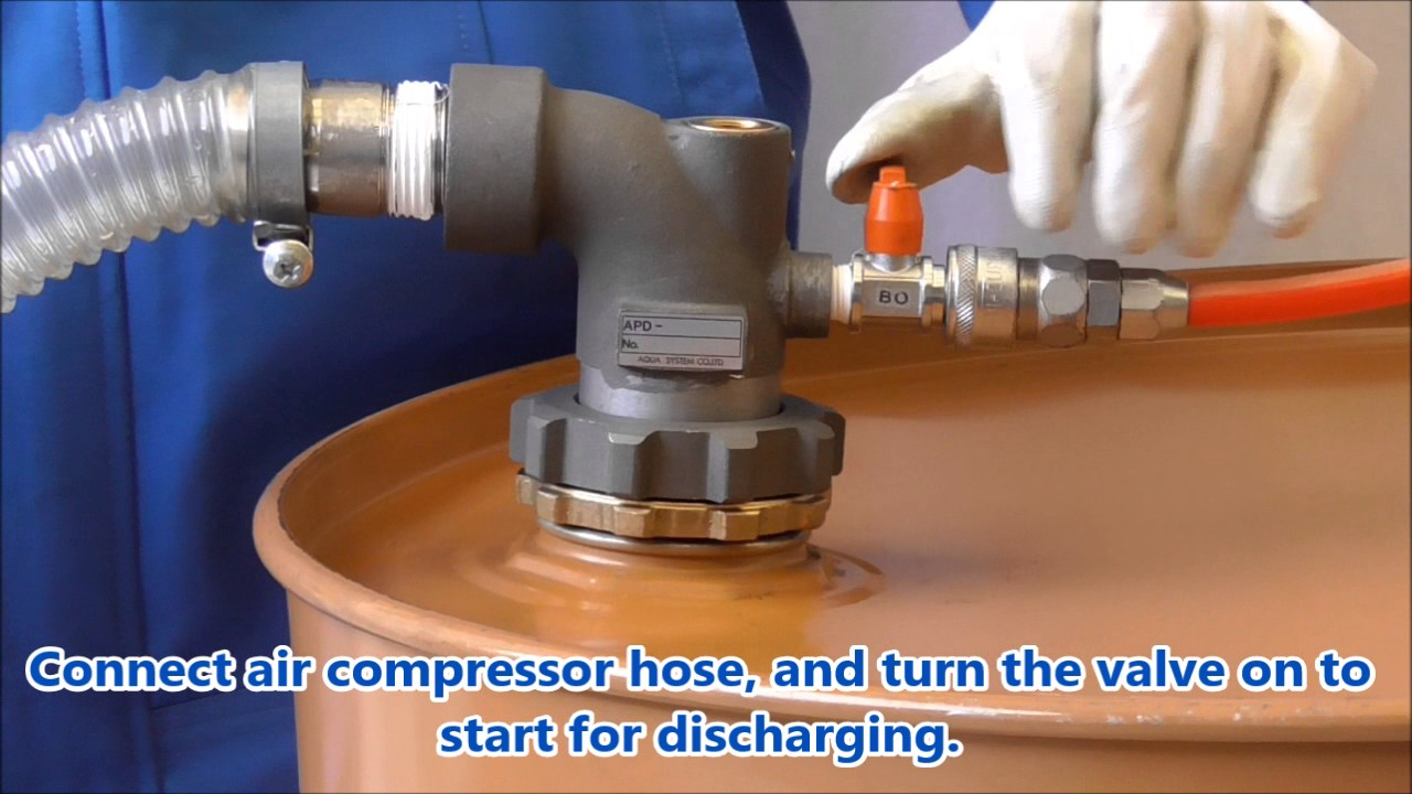 Vacuum Drum Pump Worked By Compressed Air Made In Japan