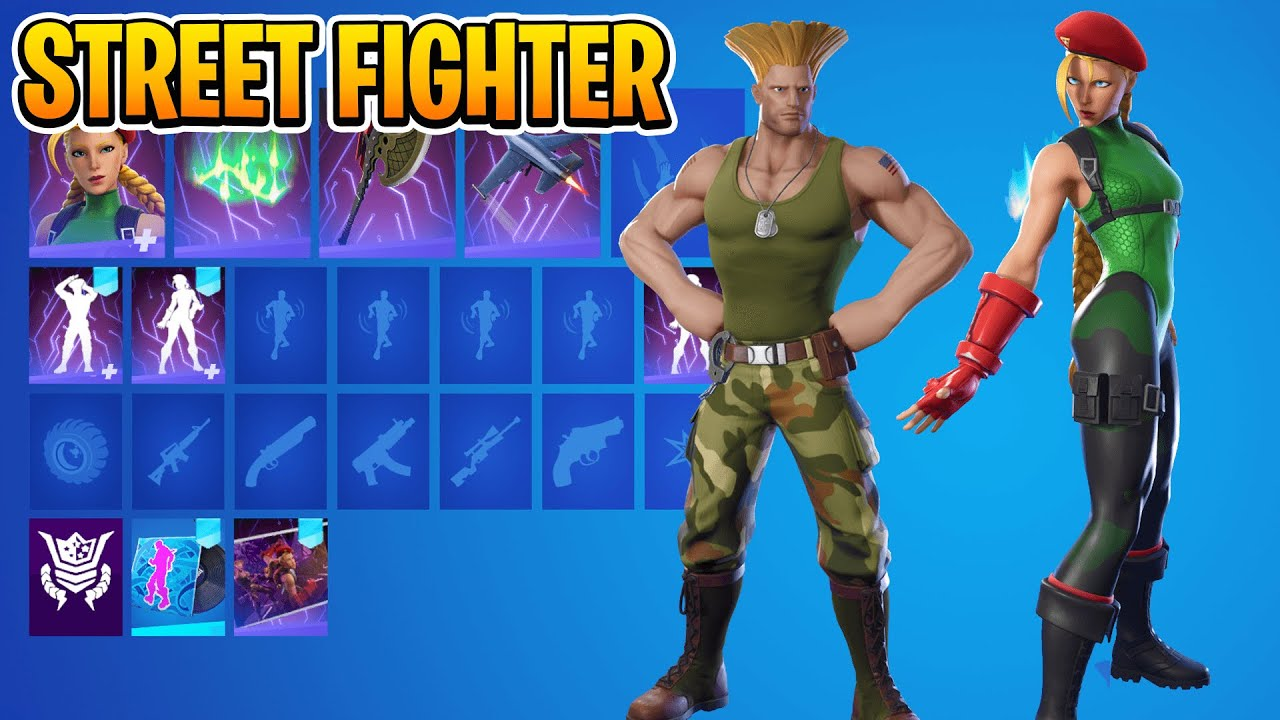 *NEW* Street Fighter Skins IN-GAME! (Cammy, Guile)