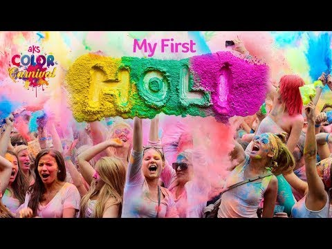 my first holi in dubai aks color carnival dubai vlogger youtube
