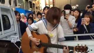 2014.510 におこなわれた後藤まりこさんの路上ライブです。 渋谷編、その7です。 後藤の日。【m@u】