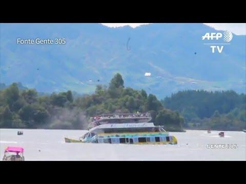 Naufrágio deixa mortos e desaparecidos na Colômbia