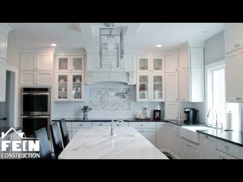 New Jersey Home Builders - Modern White Kitchen Renovation
