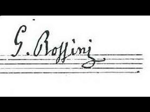 Rossini: Une larme, Thème et variations pour violoncelle et piano - M. Zigante; R. Caramella