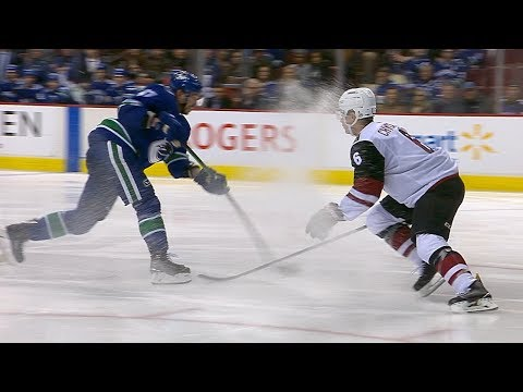 Sven Baertschi dangles around defender and snipes goal