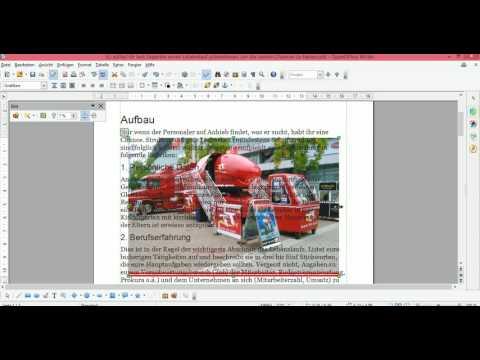 OpenOffice Bild einfügen und bearbeiten mit OpenOffice