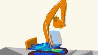 SC Motion 履帶式挖土機行進機構運動模擬