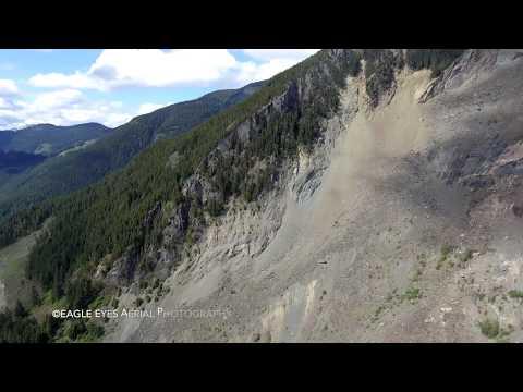 Hope Slide Jan 9,1965    Aerial views    Beautiful British Columbia