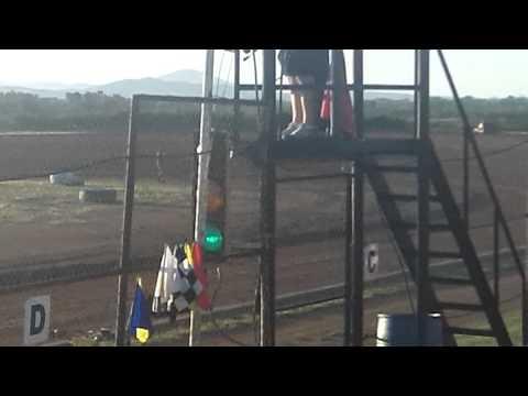 Richard Pece Mini Stock #3 Hot laps at Lawton Speedway 8-8-15