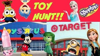 Toy Hunt!! Toys R Us & Target! Hunt for Shopkins, Minions, Uggly's and More!