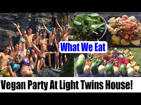 What I Ate Today ✽ Vegan ✽ PARTY At Light Twins House! Vlog #6