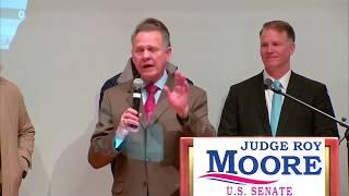 WATCH: AL Republican Senate candidate Roy Moore speaks on election night