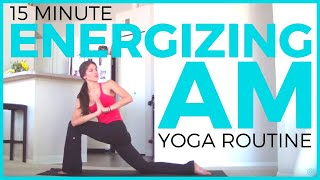 Video 15 minute Energizing Morning Yoga Routine | Morning Yoga to Wake Up download MP3, 3GP, MP4, WEBM, AVI, FLV Maret 2018