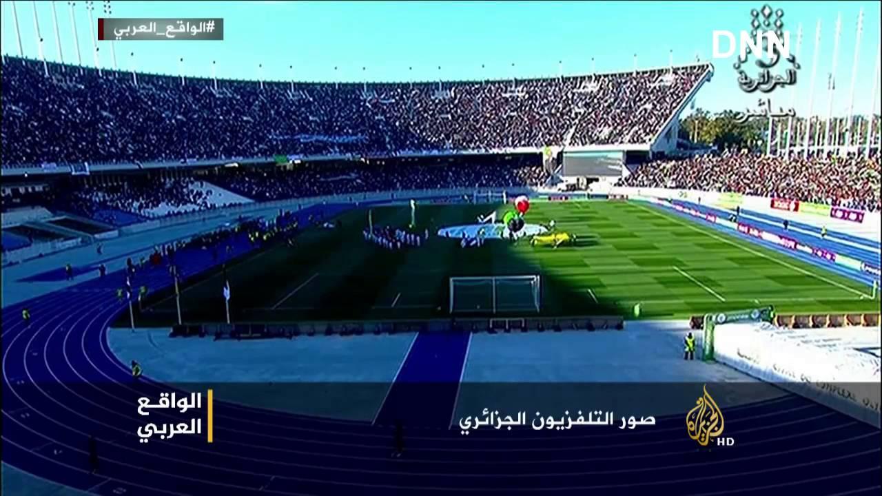 قناة الجزيرة بعد مباراة فلسطين في صدمة من الشعب الجزائري !!  صرخة شعب من ملعب التى هـز العالم _HD