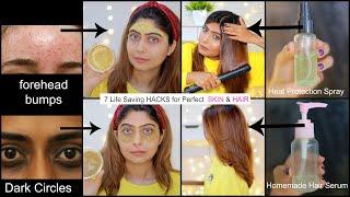 7 Life Saving HACKS for Perfect SKIN & HAIR | #Beauty #Skincare