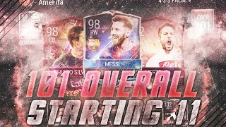 101 overall team!! highest rated fifa mobile team possible | fifa mobile gameplay