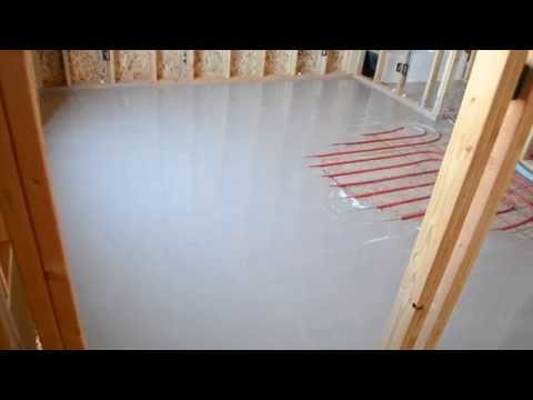 GypCrete Thin slab overpour Poured over radiant heat pex