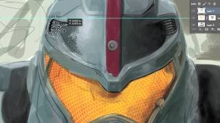 Pacific Rim - Gipsy Danger Jaeger Digital Painting Timelapse | SPEED PAINTING