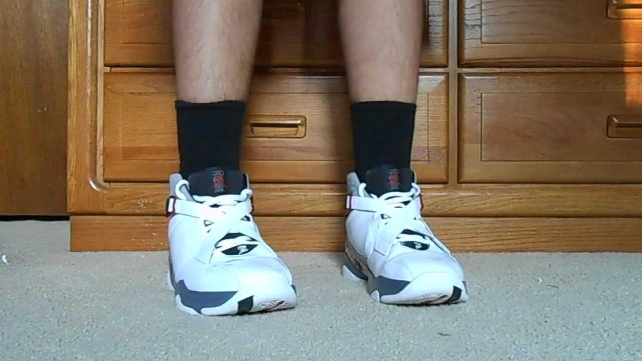 premium selection 36c50 6a09a Air Jordan 8.0 On Feet - YouTube