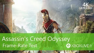 [4K] Assassin's Creed Odyssey - Frame-rate Test demo E3 2018 on Xbox One X